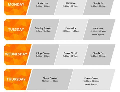 Virtual schedule