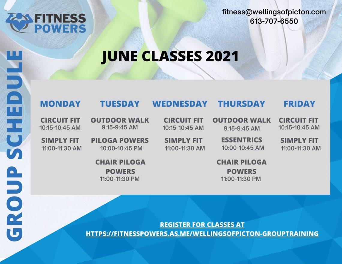 Wellington Classes June 2021